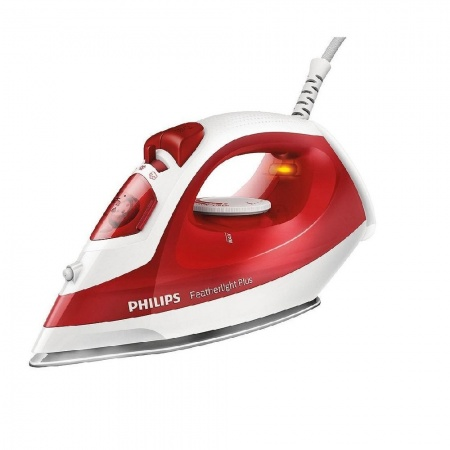 Philips Featherlight Plus GC1424/40 1400 Watt Iron -Red