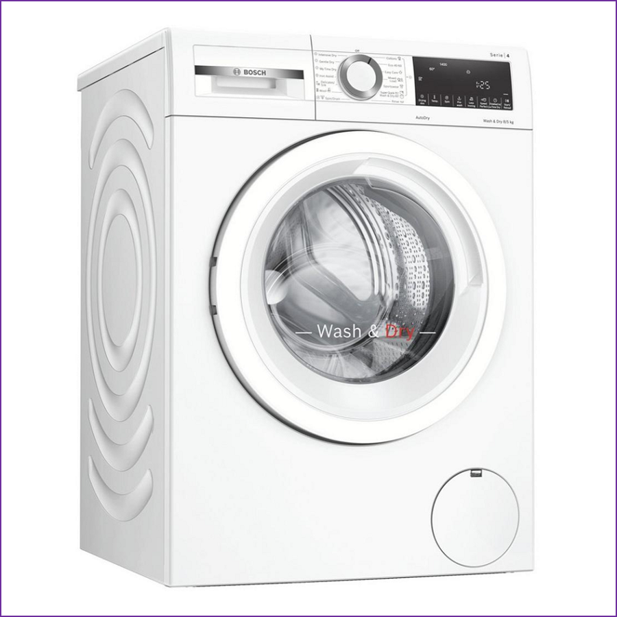 Bosch WNA134U8GB 8kg/5kg 1400 Spin Washer Dryer - White